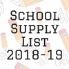 School Supply List 2018-19