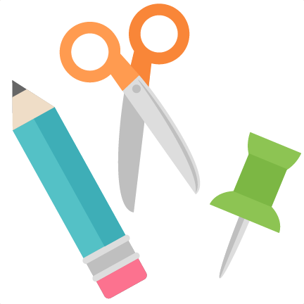 School supplies (scissors, writing utensils)